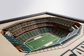 Lincoln Financial Field Interactive Concert Seating Chart Philadelphia Eagles Lincoln Financial Field 3d Wood Stadium Replica 3d Wood Maps Bella Maps
