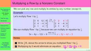 how to use matrices to solve systems of linear equations row operations part 2 of 5 you