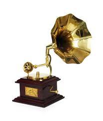 House Decoration Items India Design Hut Home Decor Brass Showpiece Gramophone Decorative Gift