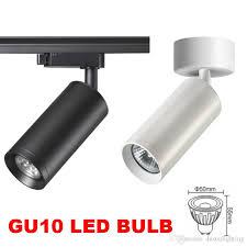 led track light spotlight gu10 led rail lamp iluminacao lighting fixture for spot lighting ceiling pendant tracklight 1 2 3 phase