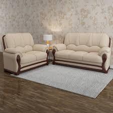 Vintage Ivoria Fabric 3 2 MAHOGANY Sofa Set Price in India Buy