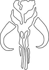 5b5be4a54880815f965b093349d35ff8 star wars decal mandalorian skull boba fett sticker ritrama, on jango fett helmet template