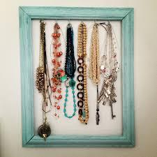 diy frame necklace holder