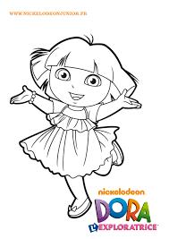 Coloriage Facile En Ligne Dora