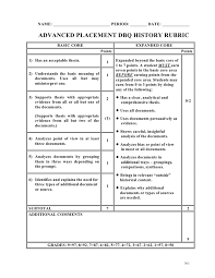 dbq essay rubric co ap dbq rubric