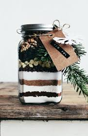 gift idea brownie mix in a jar