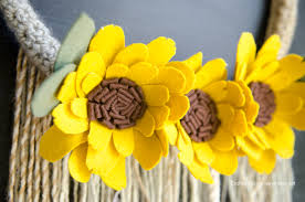 sunflower wreath tutorial diy