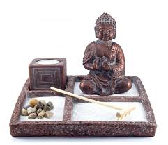 Small Picture Zen Garden Buddha Statue Mini Zen Garden Office Decor Gift
