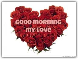 good morning my love red roses and
