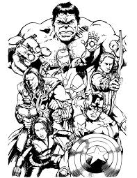Awesome Avengers Team Coloring Page Free Printable Coloring Pages