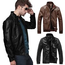 details about fashion mens pu leather jackets biker jackets motorcycle collar slim fit coats