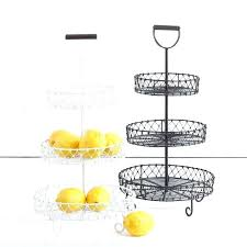 3 tier fruit basket three y tiered fruit stand idea made of wire basket with holder displays2go 3 tiered