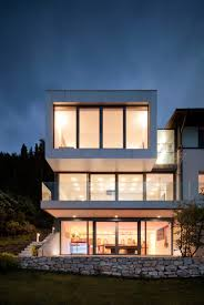view modern house lights. Collect This Idea Evening View Front Modern House Lights
