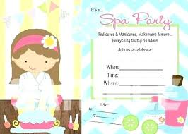 Spa Invitation Template Spa Birthday Party Invitations Greetings Day