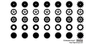 歯車の影絵 シルエットデザイン