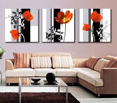 Modern Paintings For Living Room Aliexpresscom Buy Modern Art High Quality 3 Panel Flower