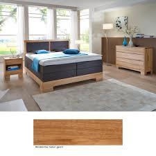 Schlafzimmer Brest Premium Eiche Massiv Boxspringbett Kommode Nako