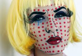 pop art makeup tutorial ic book character design