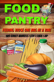 Food Drive Flyers Templates Food Pantry Template Postermywall