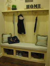 Hall Coat Rack Bench Mud room bench with coat rack by Burrows Cabinets Traditional 30