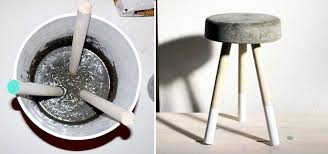 how to make a sweet 5 bar stool using wooden dowels concrete