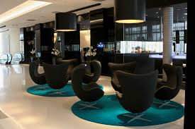 interesting office lobby furniture. Delighful Furniture Modern Hotel Lobby Furniture On Round Carpet And Sleek Floor Plus  Interesting Lighting Inside Office