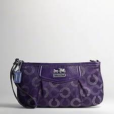Cheap Wholesale Coach New Madison Dotted Op Art Large Wristlet Purple
