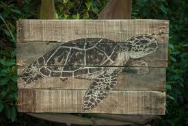 Sea Turtle Bathroom Accessories Sea Turtle Painting Sea Turtle Art Lake House Art Lake House