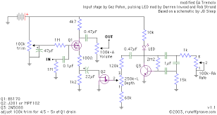 building a modified ea tremolo pedal on veroboard diy strat and a description of the circuit can be found here home wrecker com eatremolo html