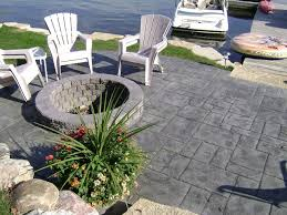 stamped concrete patio on the lake fenton michigan