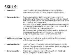 Basic Skills For A Resume Resume Teamwork Examples For Resume