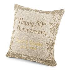 gifts for golden wedding anniversary. 50th anniversary pillow gifts for golden wedding