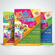 school brochure design ideas kids summer camp flyer design template school ideas lapos co