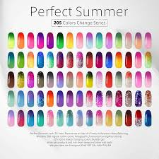 Amazon.com : Soak Off UV/LED Gel Nail Polish, Mood Changing, Temperature Colors  Changes Perfect Match Thermal Lacquers, Pack of 6 x 10ml -Set #03 by  Perfect ...