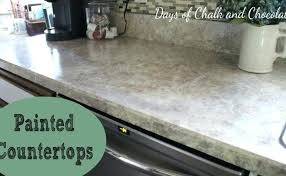painted faux stone days chalk chocolate painting countertops to look like spray paint dream photo