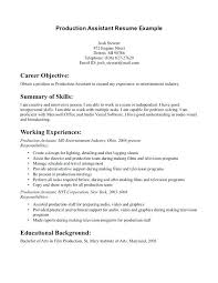 production resume examples production assistant resume template film production  resume production support resume sample