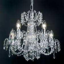 rumba 5 light polished chrome chandelier with crystal decoration