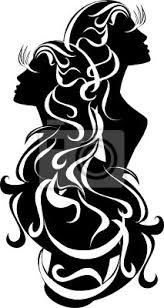 Plakát Tetování Gemini Astrologie Znamení Vektor Zvěrokruh