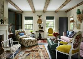 modern hunting lodge living room