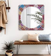 engineered wood square wall mirror