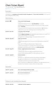 International Project Manager Resume samples