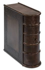 barnes leather book side table 26181