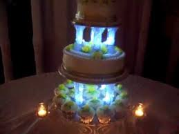 wedding cakes with lights. Brilliant Wedding Wedding Cake With Room Dimmed Showing Cake Lit Candles Cup Cakes And  Pillars Up  YouTube For Cakes With Lights R