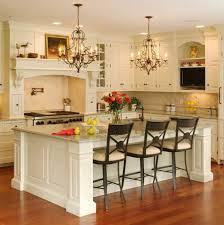 Victorian Kitchen Island Gorgeous Kitchen Room Design With Luxurious Twin Chandelier And