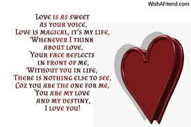 love is sweet sweet love poem