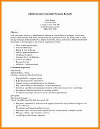 Medical Resume Objective Sample Objectives For Administrative
