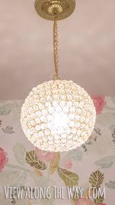 diy chandelier ideas and project tutorials diy crystal ball chandelier easy makeover tips
