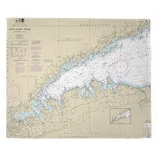 Ny Long Island Sound Western Ny Nautical Chart Blanket