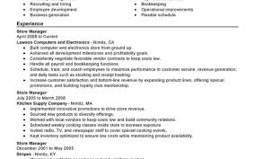 99 Store Manager Resume Example Retail Project Manager