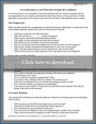 Good Questions To Ask Interview Questions To Ask A Potential Employee In An Interview Lovetoknow